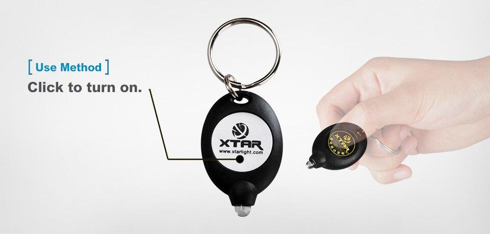 DEL Keychain Lampe de poche PCB Controlled Switch ON//OFF cliquez sur bouton porte-clés Xtar
