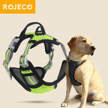 ROJECO Mesh Dog Harness Adjustable Reflective Dog Vest Harness Pet Leash Harness For Dogs Breathable Dog Harnesses Walking Lead