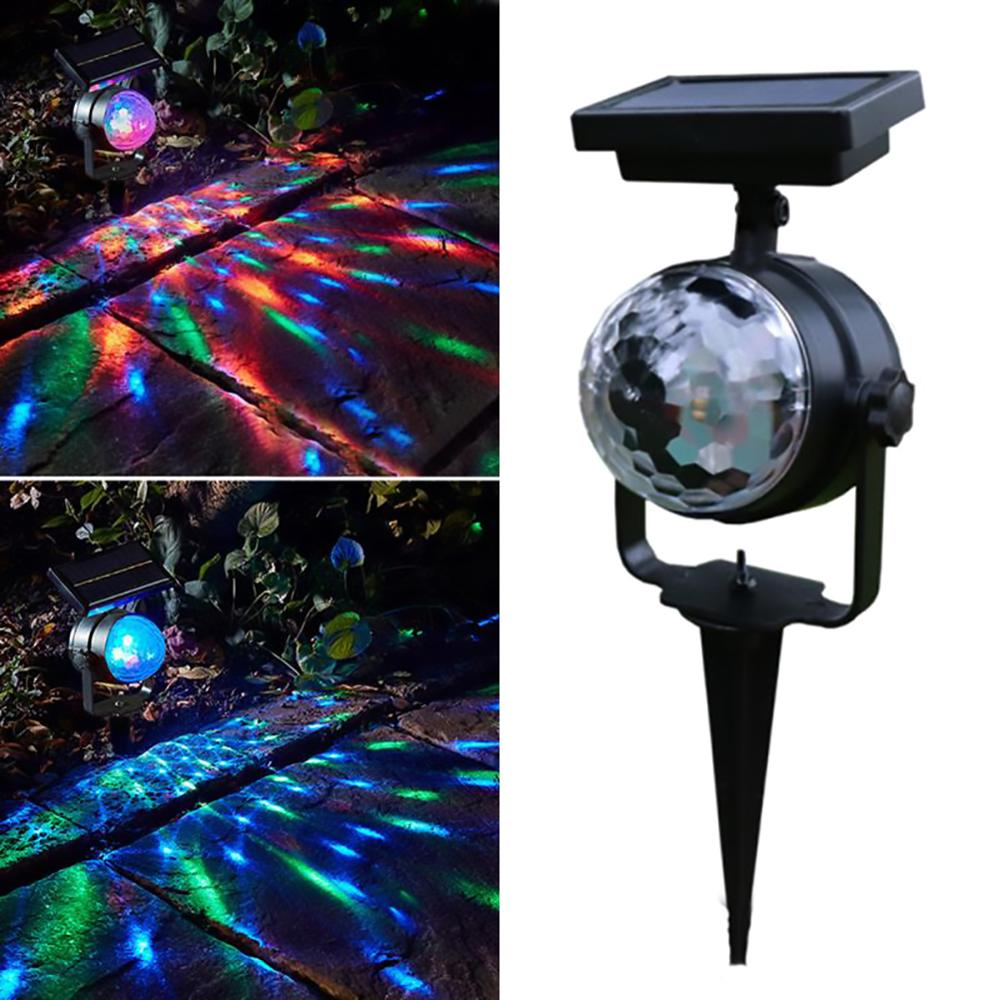 Solar Colorful Rotating LED Projector Light Garden Lawn Lamp Christmas Outdoor Decorative Bulb Home Supply Home Solar Light