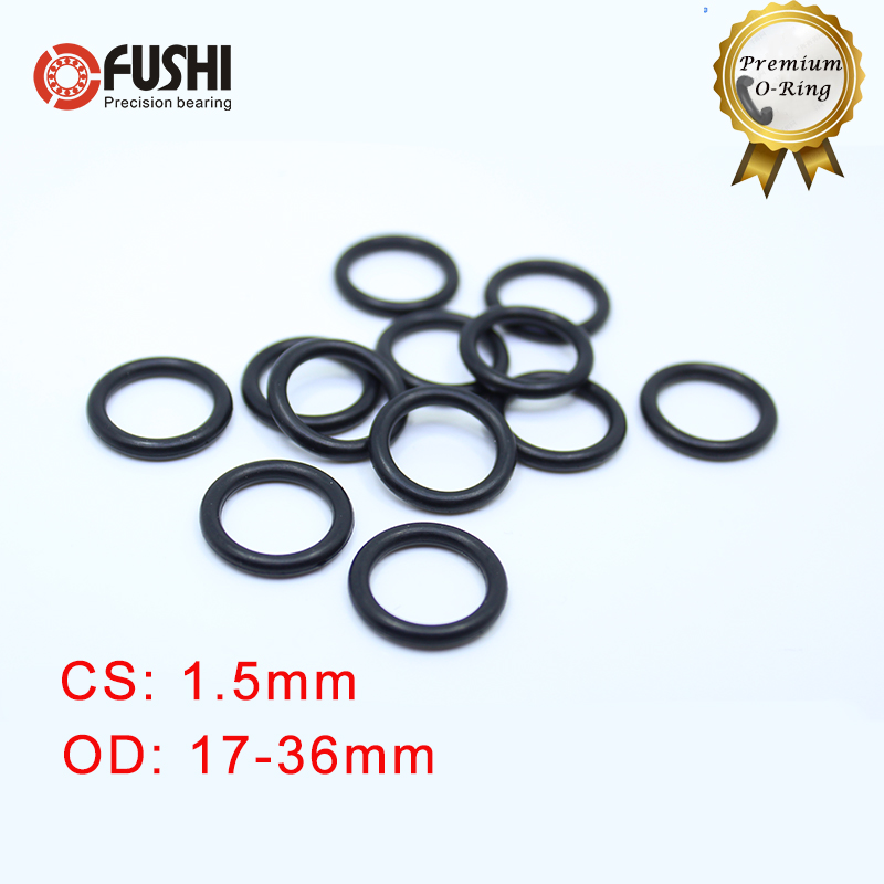 CS 1.5mm NBR Rubber O RING OD 17/18/19/20/21/22/23/24/32/34/35/36*1.5 Mm 50PCS O-Ring Nitrile Gasket Seal Thickness 1.5mm ORing