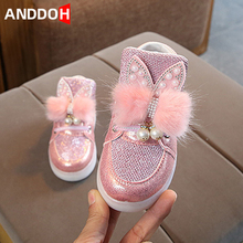 Size 21-30 Toddler Baby Backlight Hook Loop Led Light Shoes Luminous Sneakers for Girls Glowing Casual Shoes Children Sneakers cheap ANDDOH 4-6y 7-12y 12+y CN(Origin) Four Seasons unisex Rubber Fits true to size take your normal size Hook Loop Solid