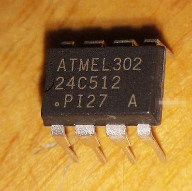 10pcs/lot New AT24C512-10PI-2.7 24C512 EEPROM Memory