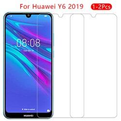 Sprawa dla huawei y6 prime pro 2019 pokrywa szkło hartowane screen protector na y 6 6y y62019 y6prime y6pro 9 telefon ochronny coque