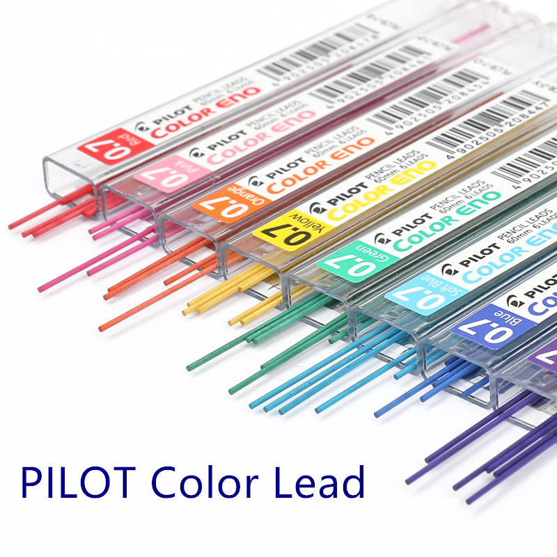 PILOT Color ENO 0.7 Mechanical Pencil Lead REFILLS PLCR-7 8 Colors 3 Mixed Colour Leads