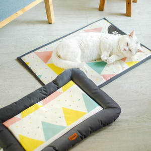 Bed Cat Dog-Cooling-Mat Calming Sofa-Bed Kennel Pet-Products Breathable Summer