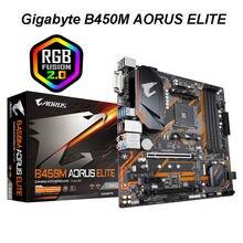 Gigabyte GA B450M AORUS ELITE AMD B450 /4-DDR4 DIMM /M.2 /USB3.1/mikro ATX/yeni/Max-64G çift kanallı soket AM4 anakart