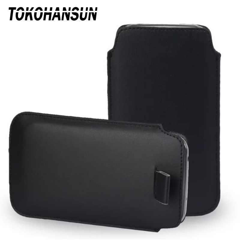 TOKOHANSUN ユニバーサル電話ケース zte ヌビア Z17 Lite V9 V8 Axon M Z999 Pu レザー電話バッグケースポーチ