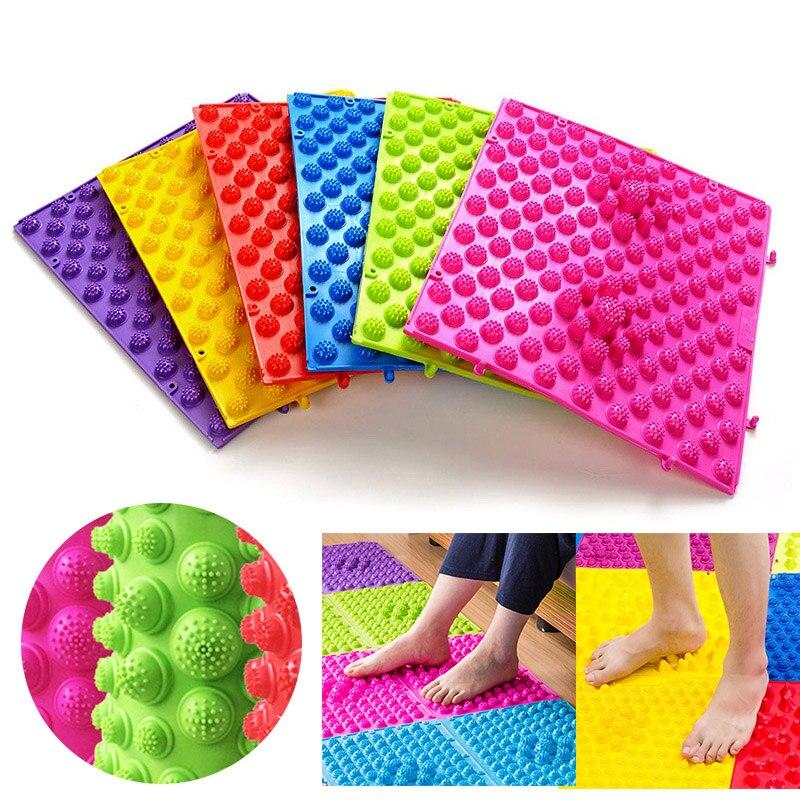 29 x 39 cm Foot Massage Pad Toe Pressure Plate Explosion Pebbles Shiatsu Blanket Yoga Mat Door Mat Use For Work Gym Vacation(China)