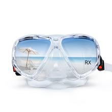 Optical Snorkeling Mask Tempered Glass Scuba Goggles Bifocal Near Far Sight Myopia near far