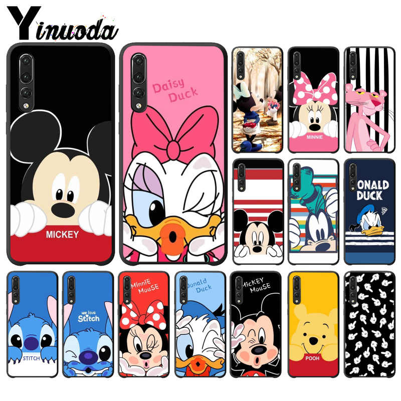 Yinuoda Ponto Mickey Minnie Bonito Coque Shell Caixa Do Telefone para Huawei companheiro 20 lite p30 pro P20 P20 Pro P20 lite Tampa 10