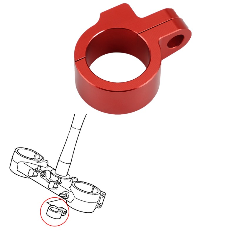 NICECNC CNC Cable Clamp FOR CRF250R 2009-2014 CRF450R 2010-2014 title=