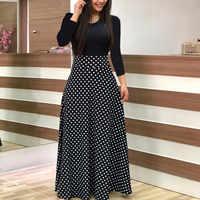 Vestido vestidos XL-5XL invierno 2019 vestido de mujer ropa mujer shein bata mujer vestidos moda manga larga Maxi vestido z4