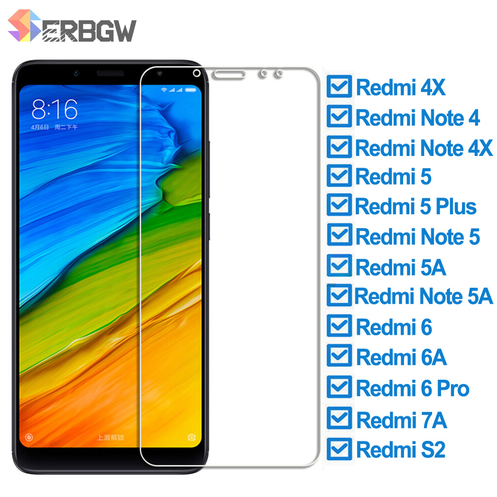 Protective Glass For Xiaomi Redmi 5 Plus 5A 4X 6 6A 7A S2 Tempered Screen Protector Glass On The Redmi Note 4 4X 5 5A Pro Film