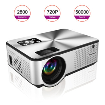 UNIC 2020 Portable Smart Projector Media Player AV/VGA/HDMI/USB/TF Film Independent Speaker 4.3 Inch 720P Movie Ome Theater