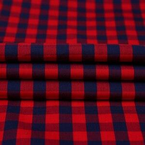 Image 5 - Vacances chemise à carreaux pour jeunes hommes, en coton, à carreaux, à poches simples à Patch, à manches longues, à ajustement Standard, décontracté