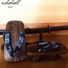 Шлепанцы whoholl geta для мужчин японские сандалии дома деревянные