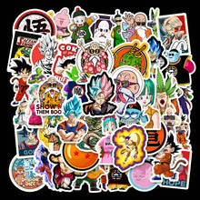 50Pcs Japan Anime Dragon Ball Stickers Super Saiyan Goku Sticker Decal for Luggage Snowboard Car Fridge Car- Styling Laptop