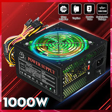 PSU Power-Supply 1000W Computer PC ATX Desktop 24pin SATA 12V LED for Intel AMD 110--220v