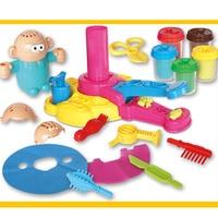 Новинка 2019, 1 набор, глиняные игрушки для лепки, развивающие ролевые игрушки, сделай сам, Парикмахерская модель для детей