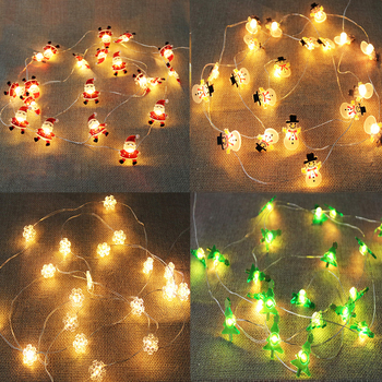 2M Snowflake Santa Claus LED Garland String Lights Merry Christmas Decoration for Home Xmas Tree Ornament Navidad Natal New Year недорого