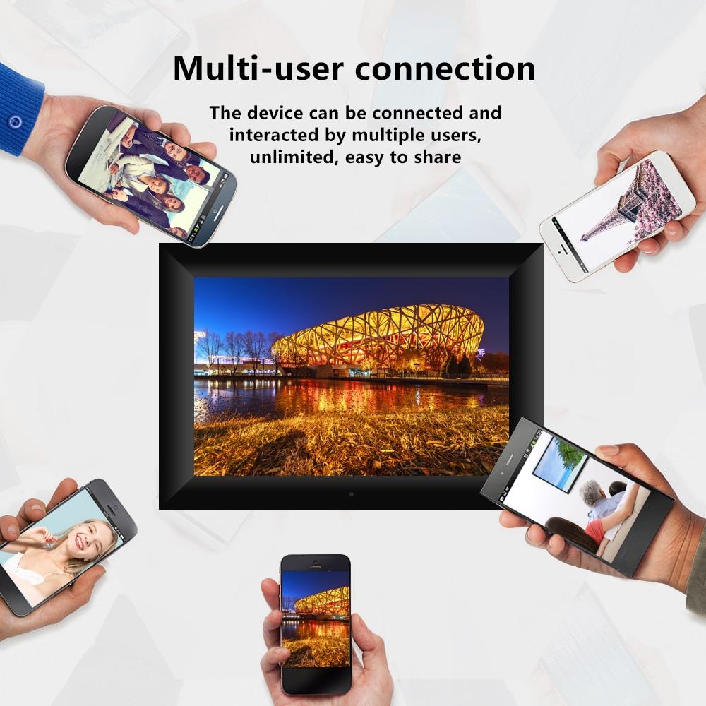 """Marco de fotos Digital Pantalla táctil IPS P100 con WiFi, Panel de Control de aplicaciones LCD 800x1280, Electrónica Inteligente UE/EE. UU., 10,1 """", 16GB"""