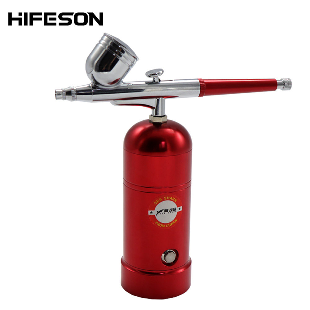 Dual Action Mini USB Charge Airbrush Kit Compressor Portable Air Brush Paint Spray Gun For Nail Art Desgin Tattoo Cake