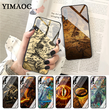 YIMAOC The Lord of Rings the one ring Glass Case for Huawei P10 lite P20 Pro P30 P Smart honor 7A 8X 9 10 Y6 Mate 20
