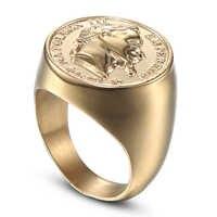 CXQNEWA edelstahl große größe männer punk signet ring schmuck hohe qualität abbildung statue ring mode männlichen ring anel masculino