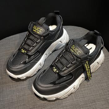 Nowe modne swobodna dzikość obuwie damskie czarne damskie modne buty sportowe siatkowe oddychające lekkie buty do biegania wygodne tanie i dobre opinie SPCN PROJECTX Mieszkanie platformy Mesh (air mesh) RUBBER Lace-up Pasuje mniejszy niż zwykle proszę sprawdzić ten sklep jest dobór informacji