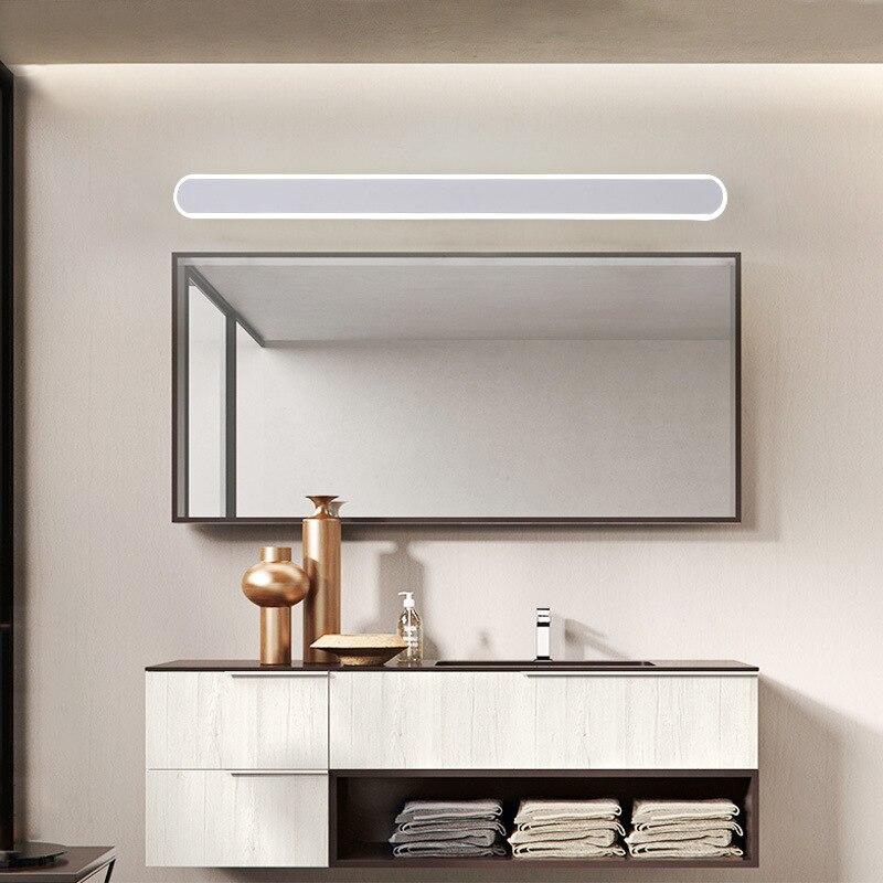 浴室点灯ミラー創造的なミラーキャビネットライト防水と防曇トイレライト壁ランプ D40cm 60 センチメートル 80 センチメートル