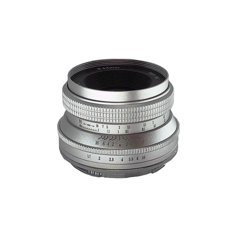 WesleyWSL 25mm F1.7 Lens for Sony NEX E-mount / for Fuji XF APS-C /  Macro 4/3 Mirrorless Camera  VS 7artisans Gift CCTV 35mm