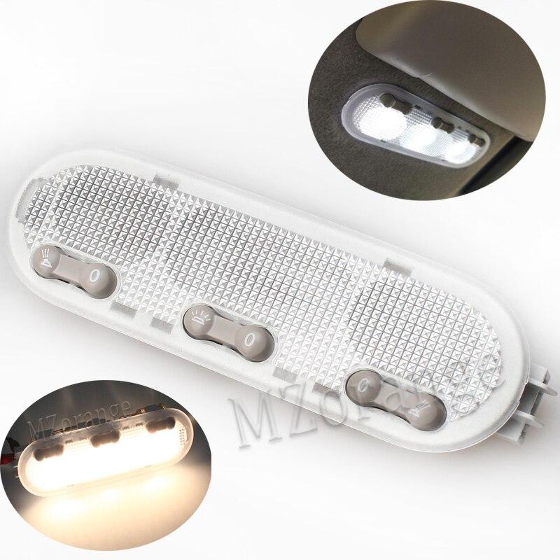 Lampe de lecture dôme pour Nissan Qashqai/ensoleillé/mars 3-botton 1-botton lampe de lecture intérieure de voiture pour Renault Dacia liseuses