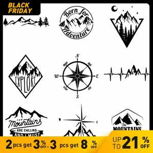 Cover Sticker-Accessories Compass Carbon-Sticker Mountains Waterproof And Scratch Newest