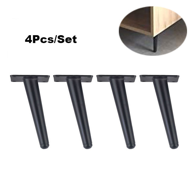 4pcs Furniture Feet 15cm Metal Tapered Table Sofa Cabinet Legs Cupboard Coffee Tea Bar Stool Chairs Feet With Mounting Screws