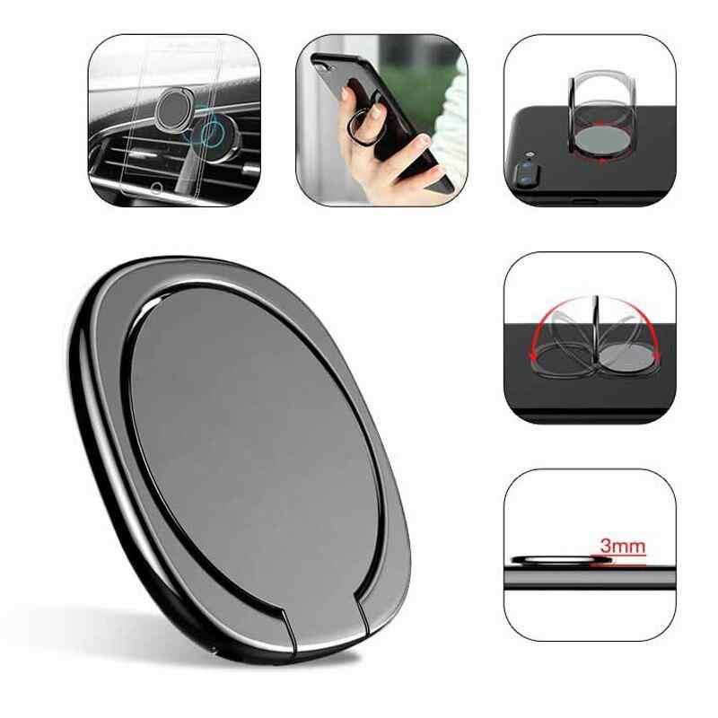 Support universel en métal 360 Flexible Rotation anneau de doigt téléphone bureau debout support pour Xiaomi Huawei Iphone