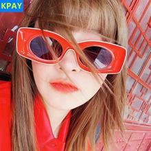KPAY Cat Eye Sunglasses 2019 New Women Fashion Brand Designer Rectangle Sun Glasses Ladies Vintage Candy Color Eyewear Shades