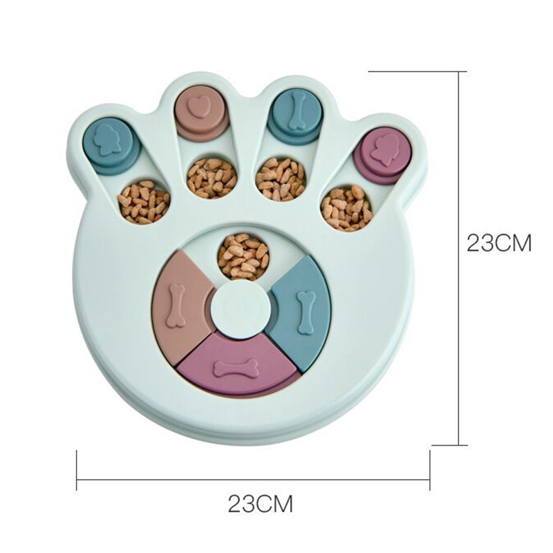 Puppy IQ Training Increase Slow Feeder Dog Puzzle Toys Interactive Food Dispenser Slowly Eating NonSlip Bowl