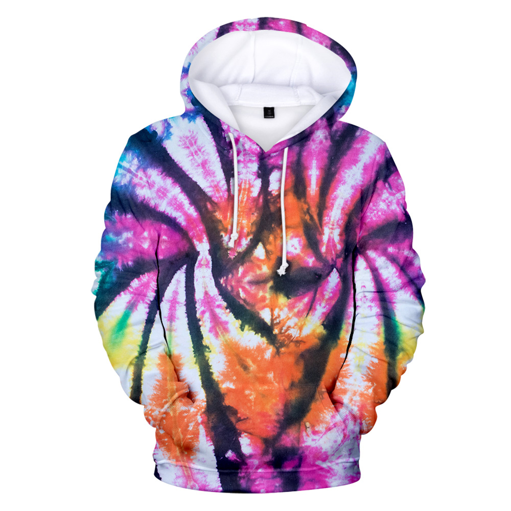 New 3D Tie Dye Hoodie Men / Women Spring Clothes Oversize Sweatshirt Men's Clothing Harajuku Pullover Hoody Print Casual Hooded 5