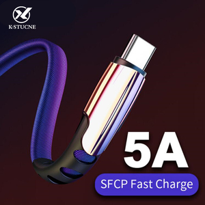 Type C USB Cable 5A Fast Data Sync Charging Cable For Huawei P30 Honor 10 9 Pro For Xiaomi Redmi Note 7 Type C USB Charger Cable(China)