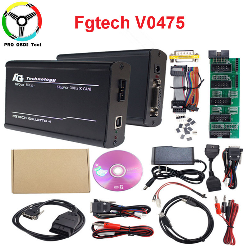 Pas besoin d'activation Fgtech Galletto V54 Master 4 ECU puce Tuning outil Version EUROPEO FG Tech V54 obm-tricore OBD K-CAN voiture camion