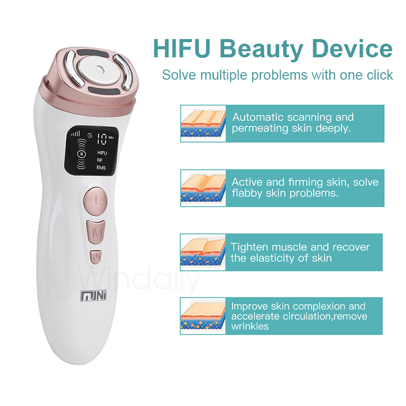 Mini HIFU Machine Ultrasound RF EMS Facial Beauty Device Face  Massager Neck Lifting Tightening Rejuvenation  Skin Care Product 4