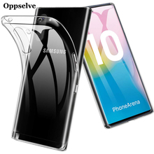 Oppselve Fashion Transparent Silicone Phone Case For Samsung Note10 Note 10 Plus Ultra Thin Clear Soft TPU Cover Conque