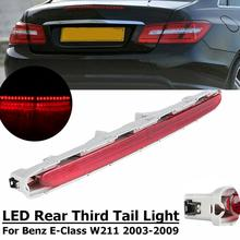 For Mercedes Benz W211 E-Class Third 3rd High Mount Brake Rear Stop Tail Light ref led rear stop brake light 3rd third turn signal lamp for mercedes benz w211 e class e55 e320 e500 e350 2003 2009 p512