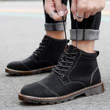 Men Black Brown Sneaker 38-46 Genuine Leather Lace Up Men Boots Plush Warm Winter Men Shoes Anti Skidding Outdoor Shoes *1923 цена 2017