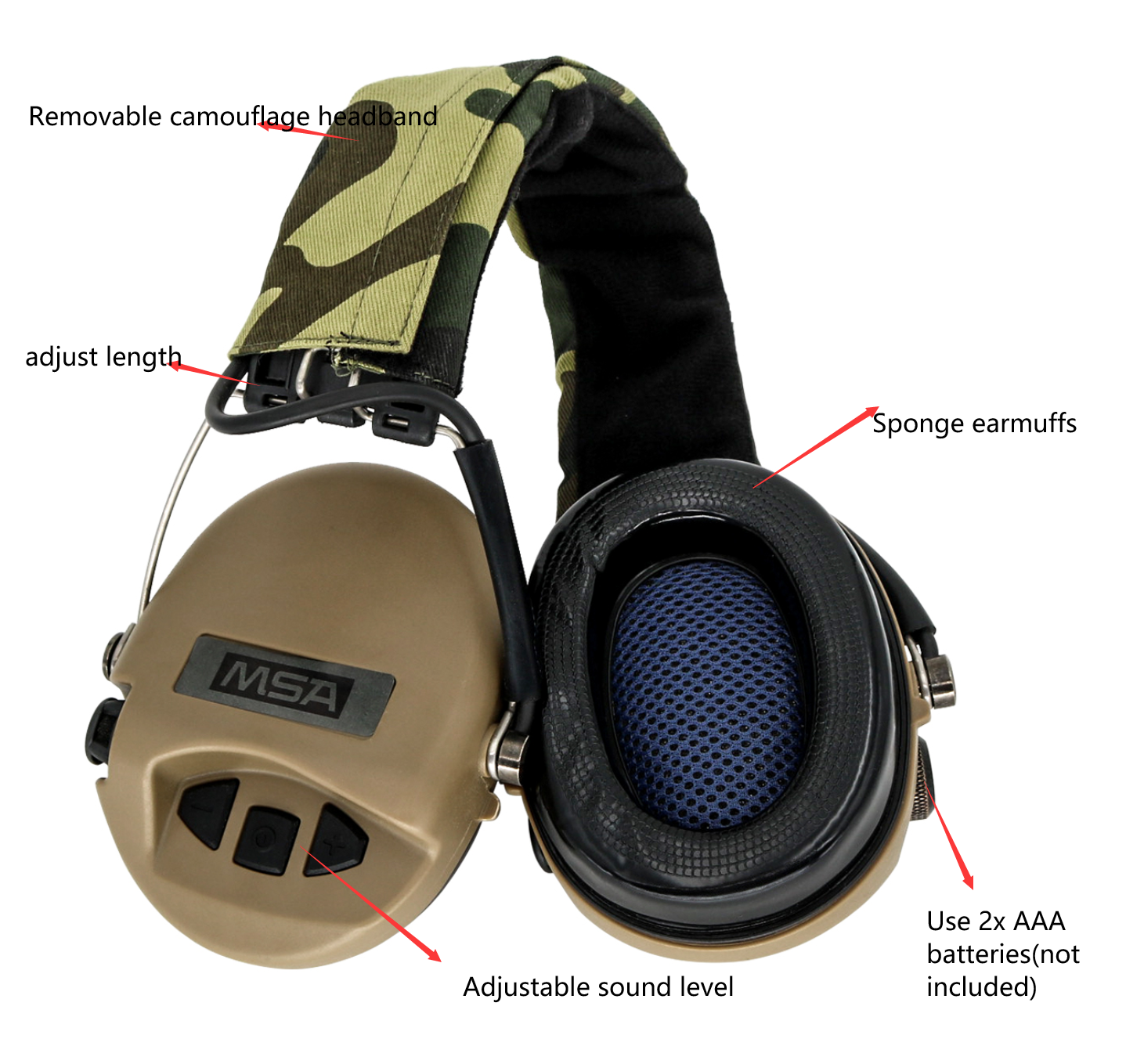 Tactical Airsoft Sordin Headphones for Noise Reduction Shooting  Hunting Hearing Protection Protective Earmuffs Tactical Headset