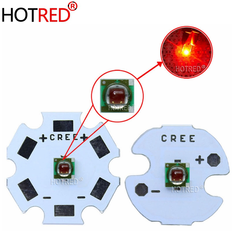 10PCS Original Cree XPE XP-E R3 1-3W 3535 Red LED Emitter Diode Red 620-625nm LED Plant Grow Emitter With 20/16/14/8mm PCB Board