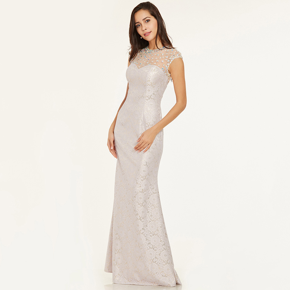 Dressv Burgundy Scoop Neck Long Evening Dress Cheap Beading Sleeveless Wedding Party Formal Dress Sheath Evening Dresses