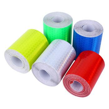 Moda kolor taśmy samochodowe odblaskowe naklejki na ciężarówki rowerowe światło ostrzegawcze taśmy odblaskowe Rainbow Ribbon bezpieczeństwa paski odblaskowe tanie i dobre opinie GISAEV CN (pochodzenie) Car Reflective Strips 5cm*100m(W*L) Auto Styling car Styling Reflective Stickers Reflective Tape