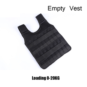 5-60KG Loading Weight Vest for Boxing Weight Training Workout Fitness Gym Equipment Adjustable Waistcoat Jacket Sand Clothing 16