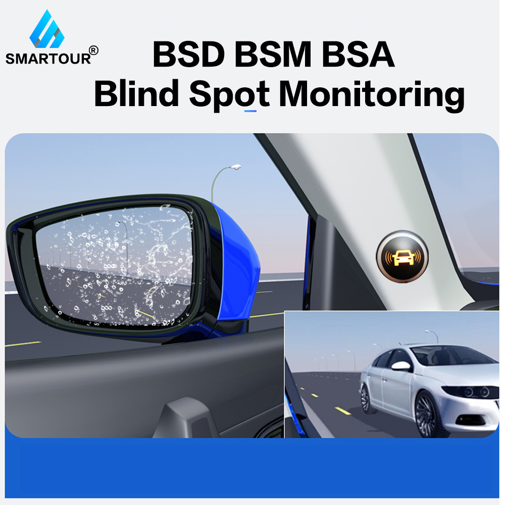 Smartour Universal BSM <font><b>Car</b></font> <font><b>Blind</b></font> <font><b>Spot</b></font> <font><b>Monitoring</b></font> <font><b>System</b></font> <font><b>Ultrasonic</b></font> <font><b>sensor</b></font> Driver Lane Changing Warning LED Radar detection image
